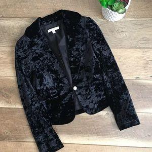 White House Black Market velvet velour blazer 0